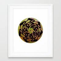 Psychedelic Pinwheel Framed Art Print