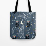 Hare Moon Tote Bag