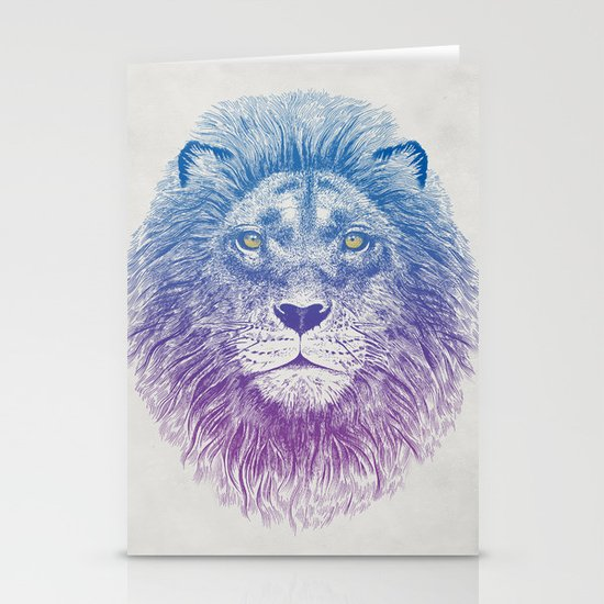 Face of a Lion Stationery Card