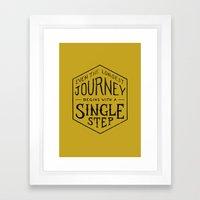 A SINGLE STEP Framed Art Print