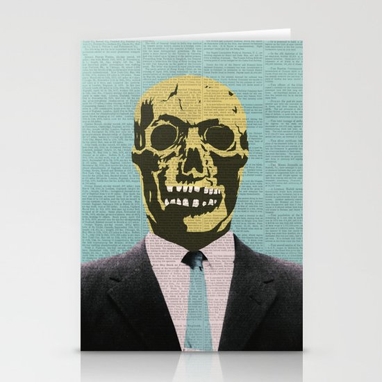 Working Man Stationery Card