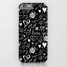 Black love Slim Case iPhone 6s