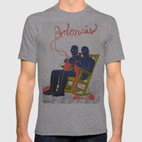 Adonais Mens Fitted Tee Athletic Grey SMALL