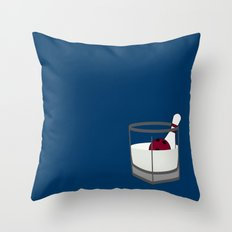 Hey, careful, man, there's a beverage here!  Throw Pillow