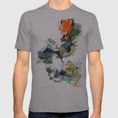 Sunburn Mens Fitted Tee Athletic Grey SMALL