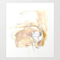 Cloud Mouth: Lavender An… Art Print