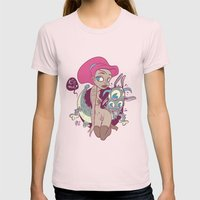 Babes&Monsters Womens Fitted Tee Light Pink SMALL