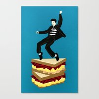 Homage To Elvis Canvas Print