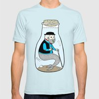 A Merman In Captivity Passing Gas In A Bottle  Mens Fitted Tee Light Blue SMALL