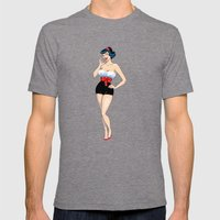 PinUp Mens Fitted Tee Tri-Grey SMALL