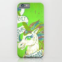 iPhone & iPod Case featuring You is for Unicorn by Madison R. Leavelle