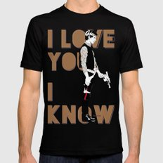 I know Mens Fitted Tee Black SMALL