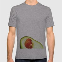 Avocado Mens Fitted Tee Athletic Grey SMALL