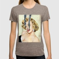 Marilyn Monroe Womens Fitted Tee Tri-Coffee SMALL