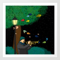 The Trumpeter Art Print