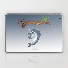 Cartoon Shark Laptop & iPad Skin