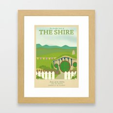 Retro Travel Poster Seri… Framed Art Print