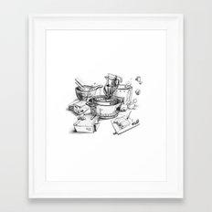 Water-chestnut cake Framed Art Print