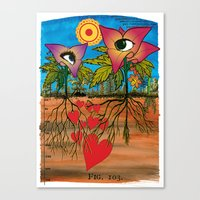 Intra-terrestrial messages Canvas Print