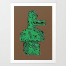 Duck Statue II Art Print