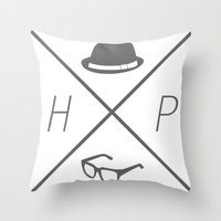 Hat and Glasses Throw Pillow