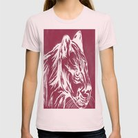 red cougar Womens Fitted Tee Light Pink SMALL
