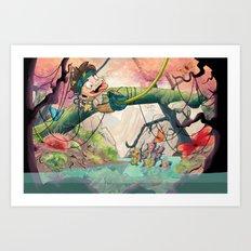 Jungle kid. Art Print