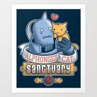 Alphonse's Cat Sanctuary Art Print