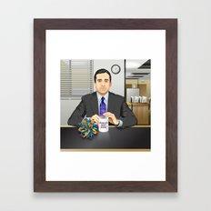 Steve Carell as Michael Scott (The Office) Framed Art Print