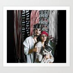 pirate portrait Art Print