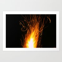 Let The Sparks Fly Art Print
