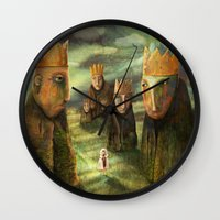 In The Company Of Kings Wall Clock