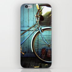 Bluebell the blue bicycle iPhone & iPod Skin