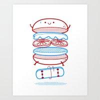 Street Burger  Art Print