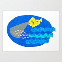 The Life Aquatic fan art Art Print