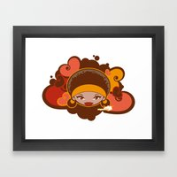 Bee-J Color Framed Art Print