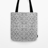Abstract Mirror Black On… Tote Bag