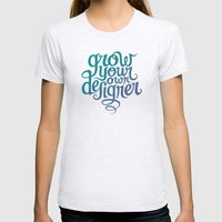 Grow Your Own Designer Womens Fitted Tee Ash Grey SMALL