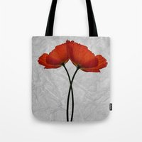 Two poppys Tote Bag