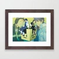 Bunny Cube Framed Art Print