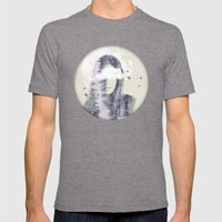 Moon Shine Mens Fitted Tee Tri-Grey SMALL