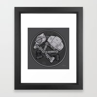 Imperial Walker AT-AT Ba… Framed Art Print