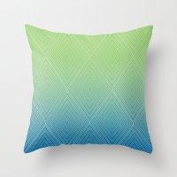 Diamonds (GreenFlashSnor… Throw Pillow
