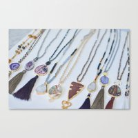 Quest Stones Boho Jewelry Canvas Print