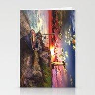 Lighthouse Landscape Sky Stationery Cards