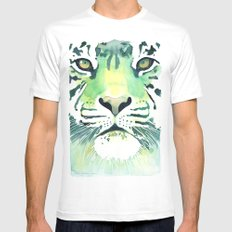 Green Tiger Mens Fitted Tee White SMALL