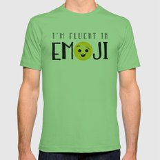 I'm Fluent In Emoji Mens Fitted Tee Grass SMALL