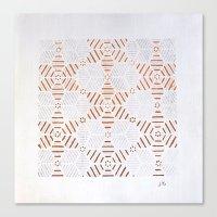 Estrellas Metal Canvas Print