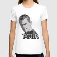 Divergent: Four Womens Fitted Tee White SMALL