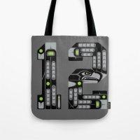 Seattle 12th Man - Black Tote Bag